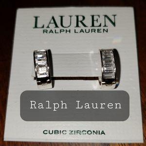 Ralph Lauren Small CZ Stud Hoops- NWTs
